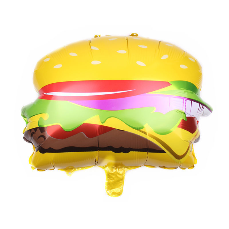 Big Birthday Party Balloons Donuts Cream Hamburger Hot Dog Inflatable Balloons Baby Shower Kids Party Birthday Supplies Balloon