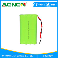 9.6v 2000mAh AA Size Batteries Ni-MH Battery Pack used for RC cars, Robots
