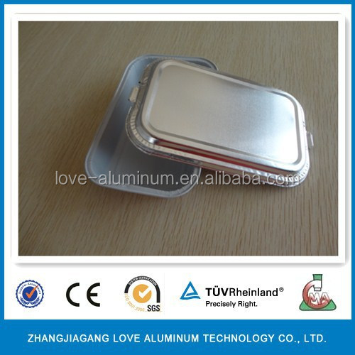 Disposable Rectangular Food Aluminum Foil Container Sealed Aluminium Foil Container Sealed Disposable Food Containers
