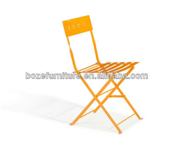 Metal Iron Folding Chair Modern Steel Outdoor Foldable