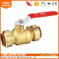 Linbo-1 sharkbit series 1/2inch copper lead free customized copper content linbo ball brass gas valve
