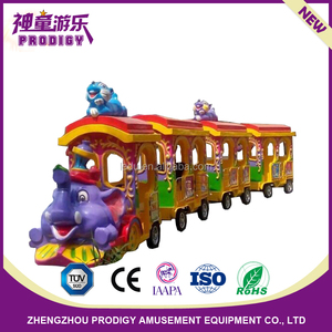 small amusement park rides shopping mall kids electric kiddie mini trackless tourist trains for sale
