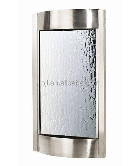 Restaurant decorative stainless steel fountains wall mounted water features fountain
