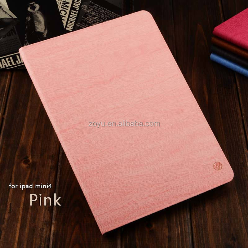 With stand leather pattern case for ipad MINI 4,Multicolor Original PC Case for ipad mini 4 Multicolor Original Silicone C