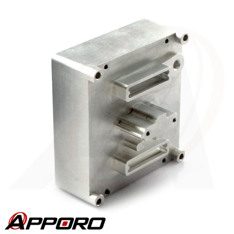 APPORO CNC Milling Machining Aluminum Alloy 6061 T6 Alodine Customized Electronic Enclosure Junction Box