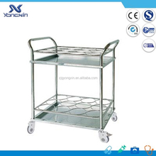Cheapest Hospital Stainless Steel Water Bottle Trolley