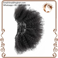 100 virgin remy clip in indian hair african human hair extensions for black women