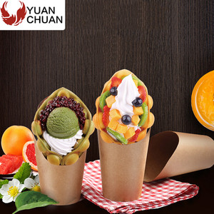 Cone shaped fried potato chips paper packaging cup