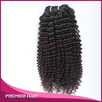 Premier Hair 16inch Chinese Virgin Hair Natural Brown Afro Curl Hair Weft