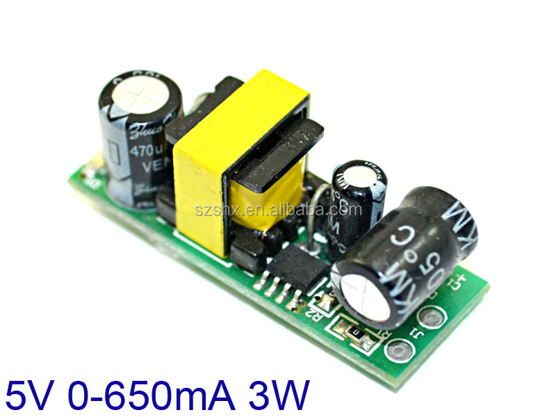 110V 220V 230V 250V ac to 5v dc converter 500mA 3W power supply circuit module
