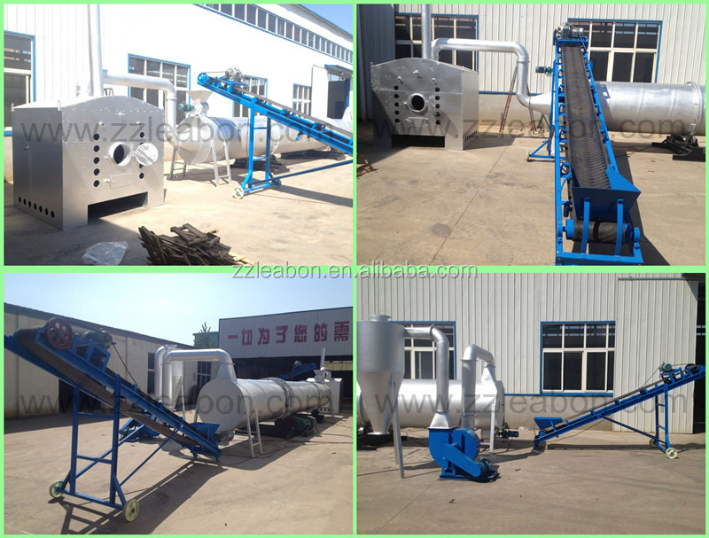 Hot Air Flow Rotary Drum Dryer Machine / Hot Sale Sawdust Dryer for sale