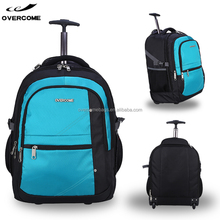 Factory waterproof single bar upright trolley bag computer bagpack wheeled