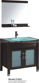 DOMO vanity bathroom cabinet glass basin cabinet