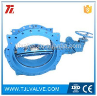 double eccentric flange di/wcb/ss ci & di butterfly valve risilient seat water use