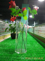 custom clear acrylic plastic round tube flower vase