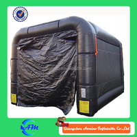 black color PVC material inflatable tent advertising outdoor inflatable lawn party tent