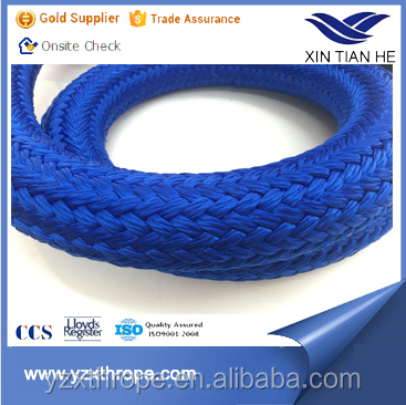 12-strand braided uhmwpe rope with polyester braided jacket