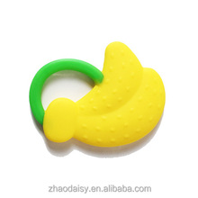 Environmentally Safety Banana Teething Toothbrush Infant Baby Teether Stick Chews Silicone Toothbrush Teething Rings Oral Hygien