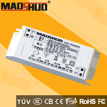 maoshuo brand Constant current (12-18)x1w 18w led driver 300ma for led lighting with CQC (3C) certification