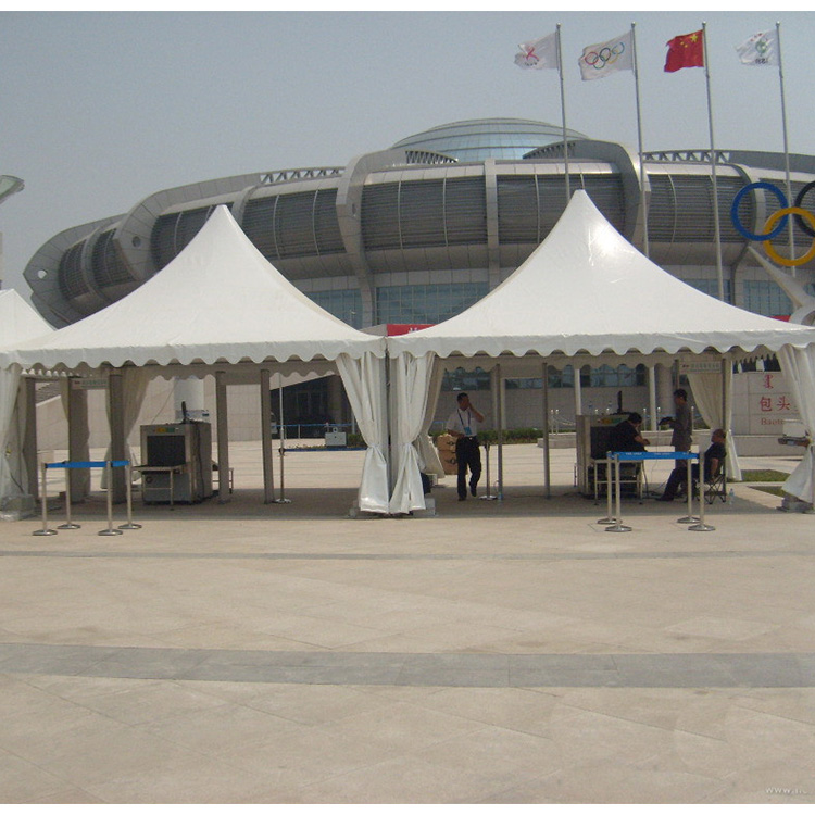 4x4m outdoor aluminum alloy and white PVC coated cover papoda gazebo tent, arabian high peak pagoda tent for sale