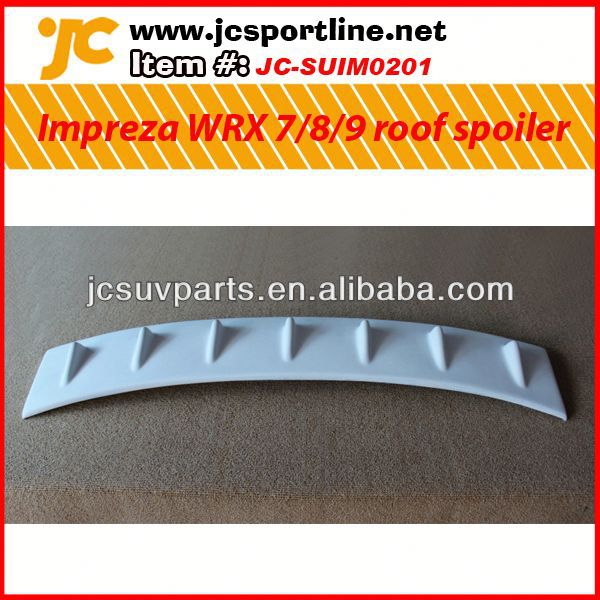 For Subaru Impreza WRX 7-9th generation fiber glass rear shark tale spoiler car rear spoiler Auto Shark tale rear spoiler
