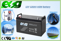 12voltage reliable vrla battery for ups system used 120ah nonspillable agm battery