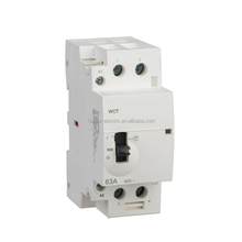 2P 63A Household Modular AC Contactor 2 Poles Din Rail AC Magnetic Contactor, Electrical Manual AC Contactor