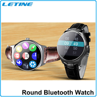 Full-size Touch screen Bluetooth Smart Watch Heart Rate Monitor with multi watch faces sim card watch phone