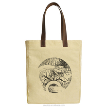 Customized designer conference used tote small canvas bag