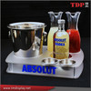Manufacturer Absolut Bottle Tray 2 Carafes Frosted Acrylic Branded, Acrylic Serving Food Tray, Acrylic Wine Display Racks