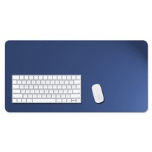 Blue Color Leather Desk Pad Mat For Computer Keyboard