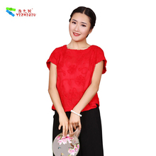 OEM Acceptable Pure Color Shirt Casual Cotton Summer Blouses