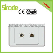 118 New Product 2013 Wall Switch TV Socket+Tel Socket