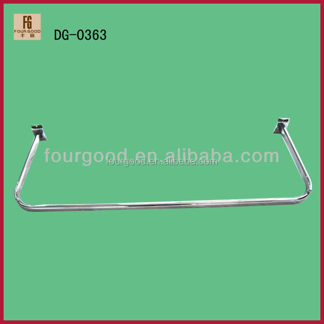 Chrome Plating U Shaped Pipe Hangers/Metal clothes hanging bar