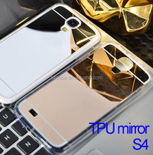 Electroplating TPU mirror phone case for Samsung Galaxy S4 case cover