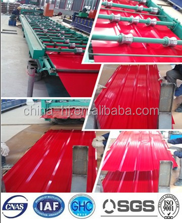 ppgi corrugated steel plate decorative usgae roofing container plate