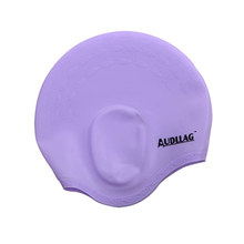 Professional Colorful Waterproof Protect Ear and Long Hair Silicone Swimming Cap