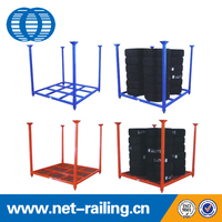 Stacking folding warehouse metal rack tire rack tire stand