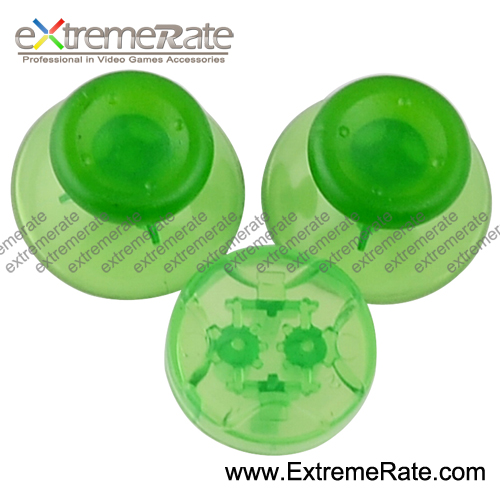Wholesale Original Clear Green Button KitsFor XBOX 360 Controller Buttons Thumb Stick Dpad
