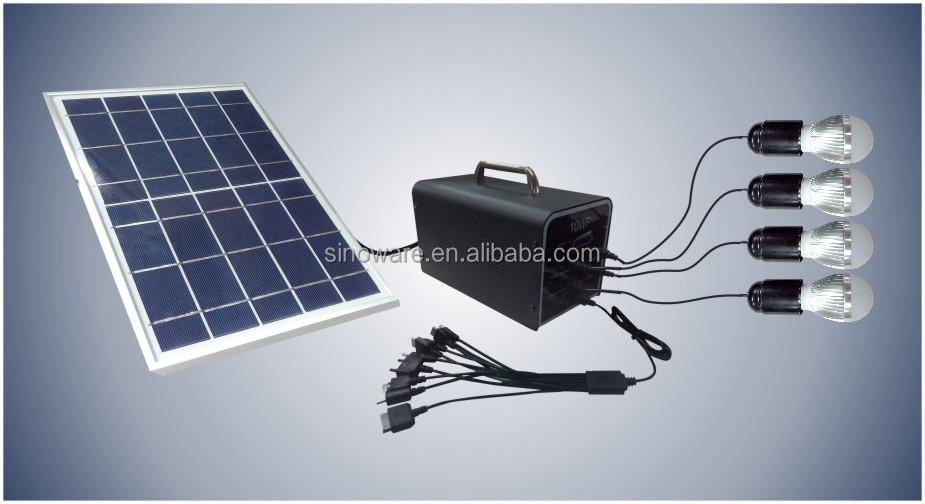 Thuis draagbare zonne energie systeem met zonnepanelen voor kleine woningen zonne installaties - Kleine zonne lamp ...