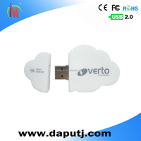 Promotional pvc custom logo cloud shape usb 8gb