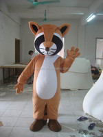Lovely Coon Bear Mascot Costume / Plush Customized Cosplay Costume