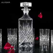 Hot Selling Whiskey Decanter with Lid&6 Cut Glass Set