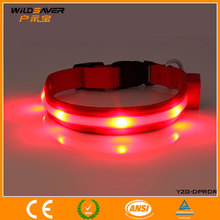 Assorted Sizes and Colors Flashing Light-up Glow LED pets red Collars for pets made in Dongguan
