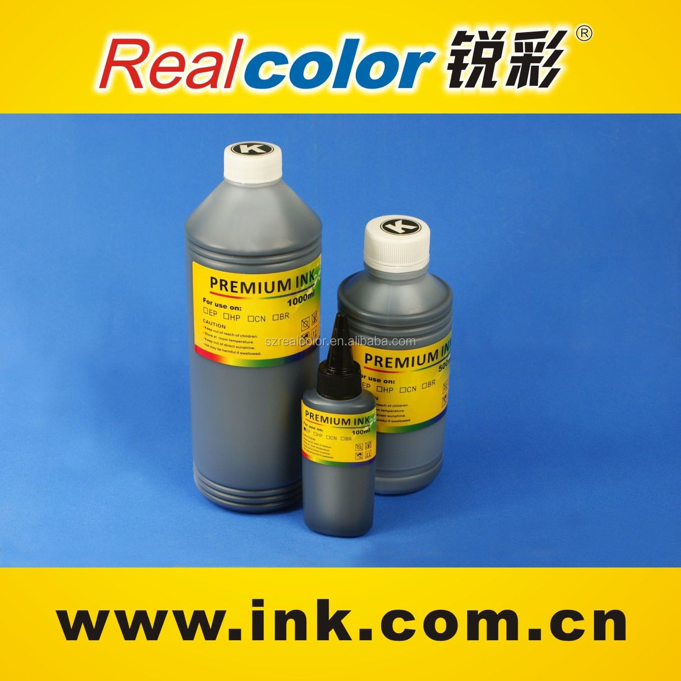 Good printing quality 500ml universal ink for hp inkjet printers