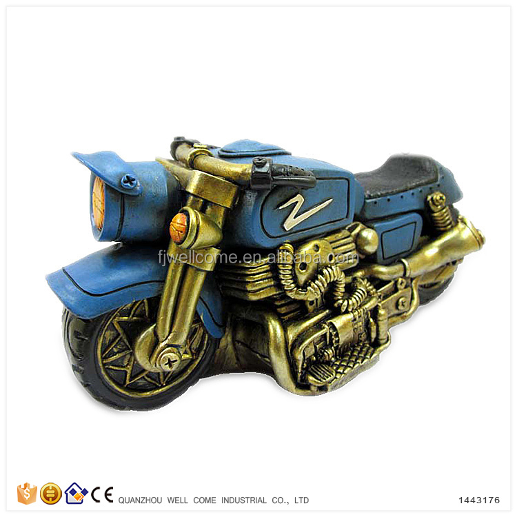Resin Piggy Banks for Adults Sports Motorbike Models