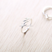 Gemnel jewelry antlers silver ring,new design ladies finger ring,tail ring