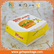 Hot!!! Wholesale cardboard hot dog packing box, food packaging for hamburgers