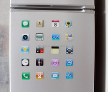custom Iphone APP Epoxy Fridge Magnet Refrigerator magnet sets from China manufacturer