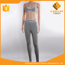 High quality clothes gray soft anti-pilling cotton women sport pants